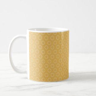 Retro Yellow Orange Maize Circles Pattern Coffee Mugs