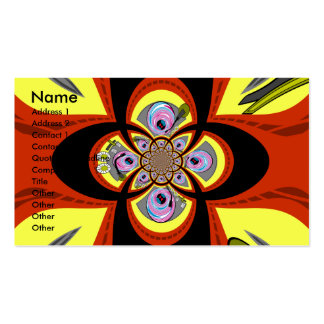 Retro yellow orange turntable design pack of standard business cards