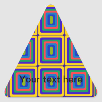 Retro yellow purple and green squares stickers