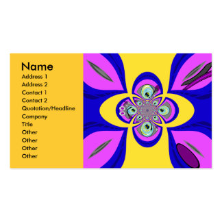 Retro yellow purple turntable design pack of standard business cards