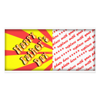 Retro Yellow Red For Father s Day Photo Card