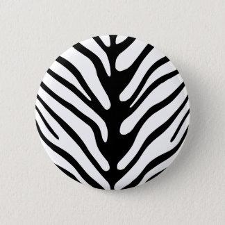 Retro Zebra Stripe Motif 6 Cm Round Badge