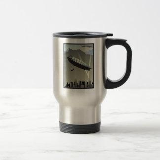 Retro Zeppelin Skyline Travel Mug