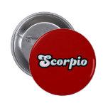 Retro Zodiac Opal 6 Cm Round Badge