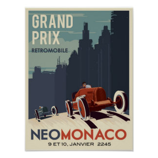 Retromobile Grand Prix Poster