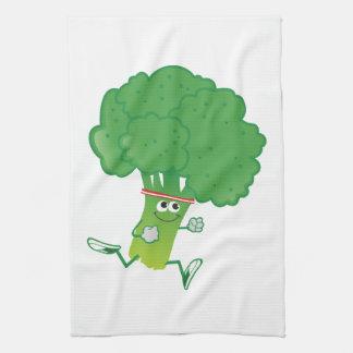 Retron Running Broccoli Tea Towel