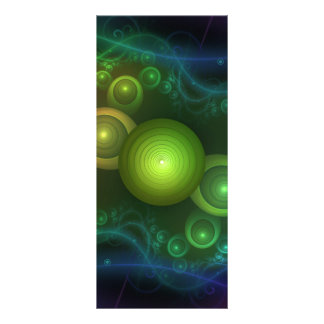 Retrotacular Rainbow Dots in a Fractal Microscope Rack Card