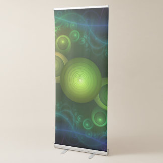 Retrotacular Rainbow Dots in a Fractal Microscope Retractable Banner