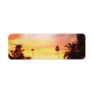 Return Address Label Arizona Sunset