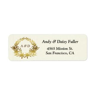 Return Address Label - Gold Theme