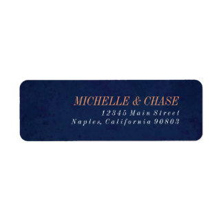 Return Address Label, Navy Blue, Wedding label