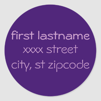 return address label - personalize