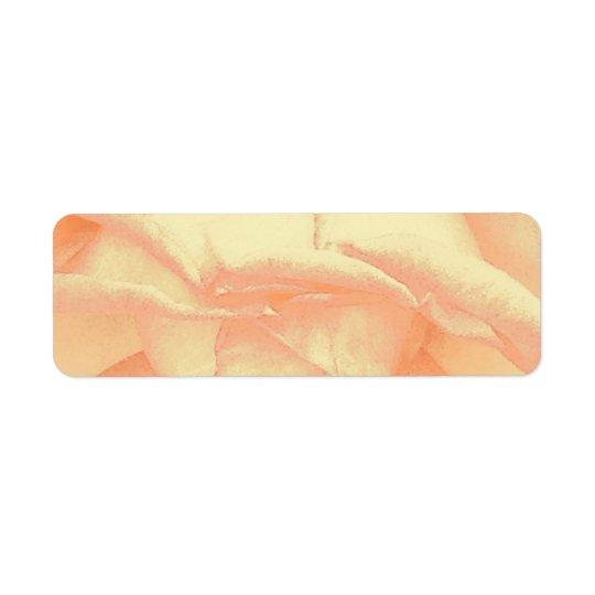 Return Address Label Rose Pedals