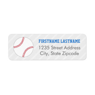 Return Address Labels | Baseball Theme
