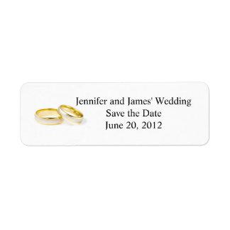 Return Address Labels Clipart Wedding Rings