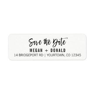 Return Address Labels Custom Save the Date Bold