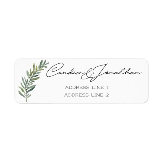 Return Address Labels for Candice