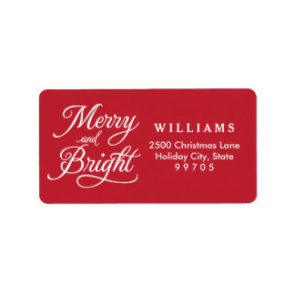 Return Address Labels | Merry and Bright