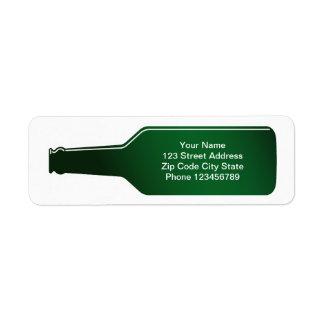 Return address labels | Message in a bottle