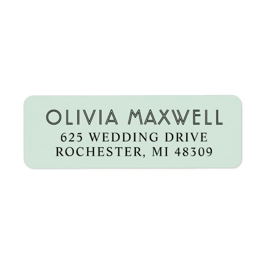 Return Address Labels | Mint Green