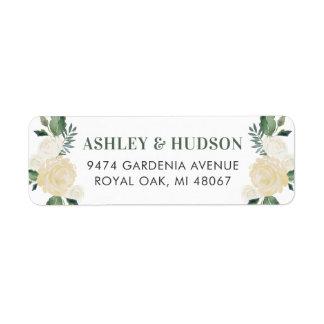 Return Address Labels | Neutral Watercolor Blooms