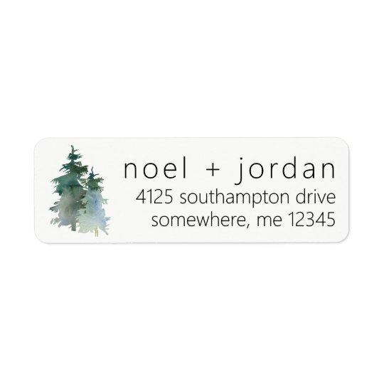 Return Address Labels Pine Tree Winter Fir Forest