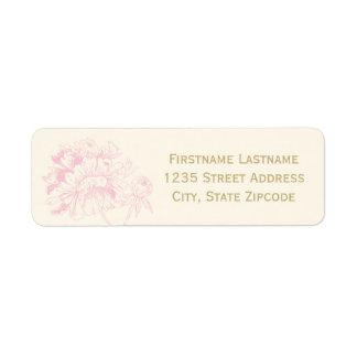 Return Address Labels | Pink Peony Design