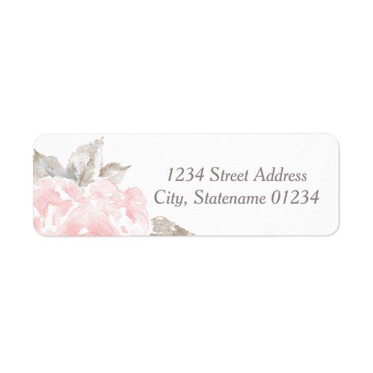 Return Address Labels | Pink Watercolor Roses