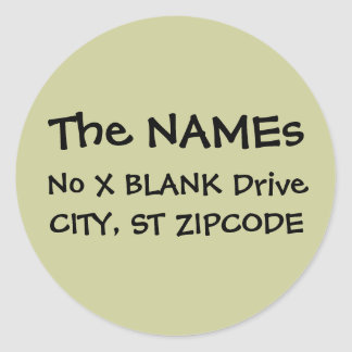 return address labels round sticker