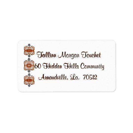 Return-address-labels-scrolls Label