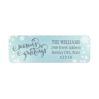 Return Address Labels | Season's Greetings