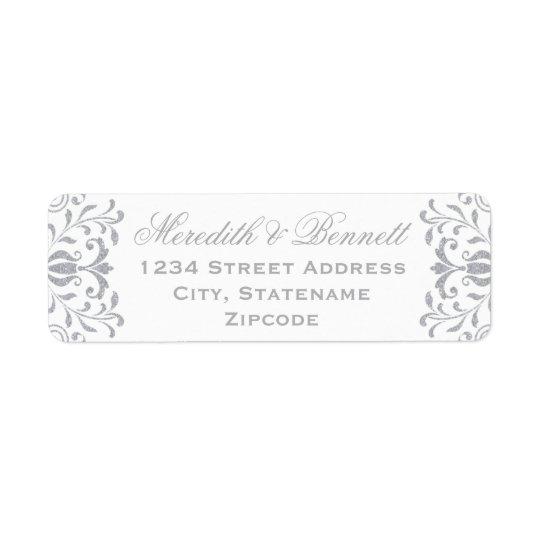 Return Address Labels | Silver Vintage Glamour