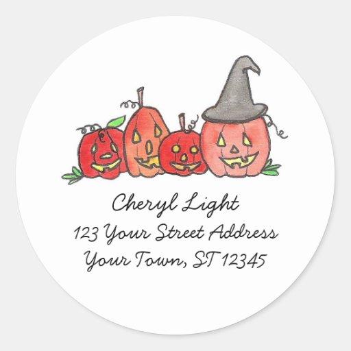 Return Address Labels Round Stickers