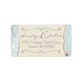 RETURN ADDRESS LABELS | Vintage Wedding Collection