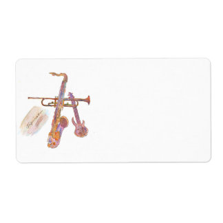 return address labels with jazz