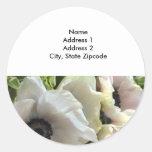 Return Address Lables: Royal Wedding Poppies Round Sticker