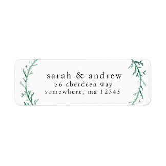 Return Address Mailing Labels - Couple's Name
