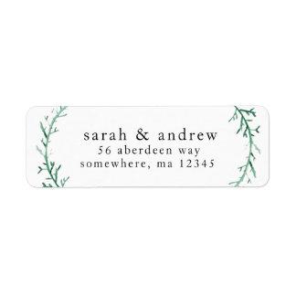 Return Address Mailing Labels - Couple's Name