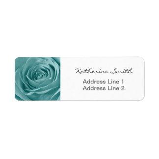 Return Address Nature Floral Photo Blue Rose Return Address Label