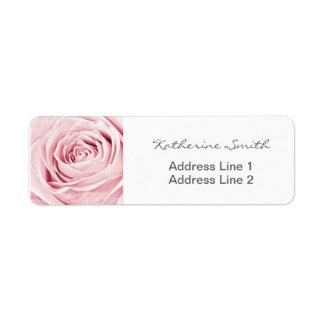 Return Address Nature Floral Photo Blush Pink Rose Return Address Label