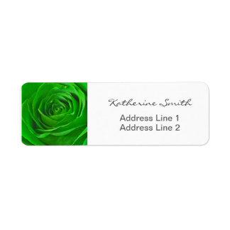Return Address Nature Floral Photo Green Rose Return Address Label