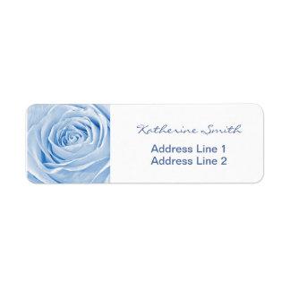 Return Address Nature Floral Photo Light Blue Rose Return Address Label