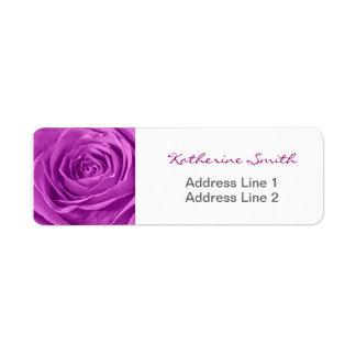 Return Address Nature Floral Photo Orchid Rose Return Address Label