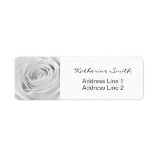 Return Address Nature Floral Photo White Rose Return Address Label