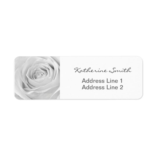 Return Address Nature Floral Photo White Rose Return Address Label