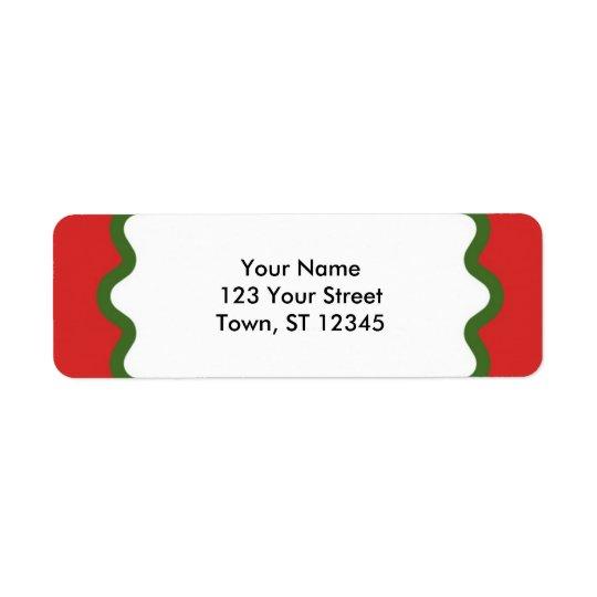 Return Address - Red and Green Return Address Label