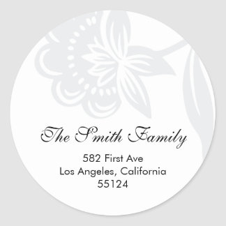 return address seal (label) round sticker