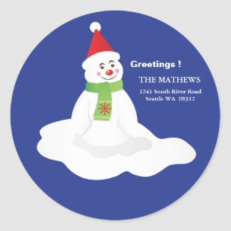 Return Address Stickers - Snowman