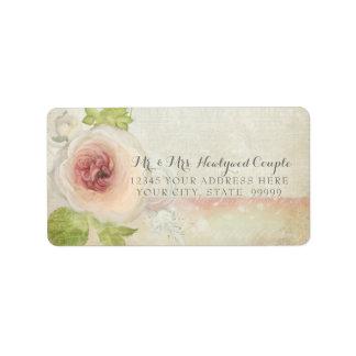 Return Address Vintage Peony Blossom Flower Pretty Address Label