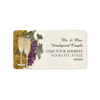 Return Address Wine Tasting Party Wedding Shower Address Label